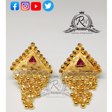 22 carat gold antic ladies earrings RH-ER303