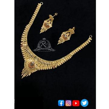 22 carat gold classical necklace set RH-NS358