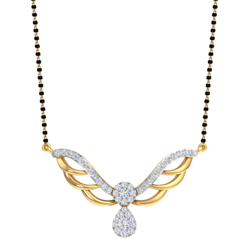 Designing fancy real diamond mangalsutra by