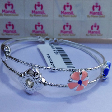 92.5 sterling silver Italian style Kada bracelet ML-87