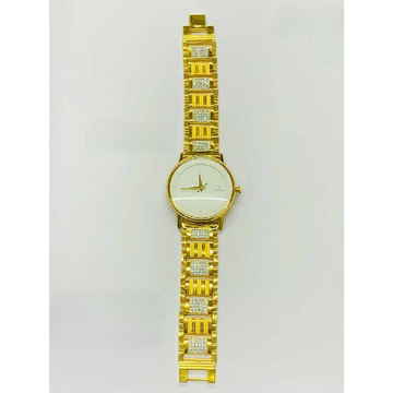 916 Gents Fancy Gold Watch G-1007