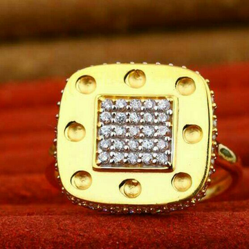 Cz Gold Ladies Ring 22kt