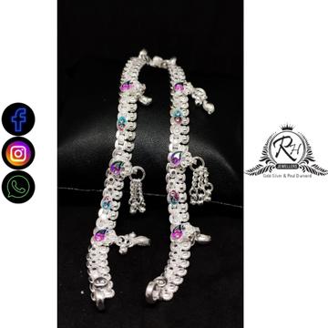 silver traditional baccha payal RH-BP465