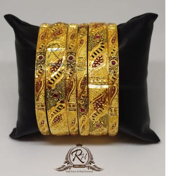 gold 22k/916 ladies traditional design bangles RH-...