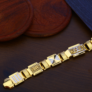 Plain Gold Mens Bracelet-MPB95
