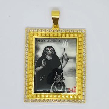 916 Gold Fancy Masani Meladi Maa Photo Fram Pendant