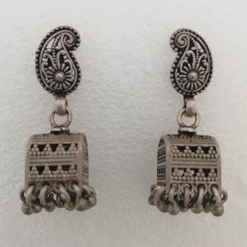 Sterling silver mango design earrings by Vinayak Gold