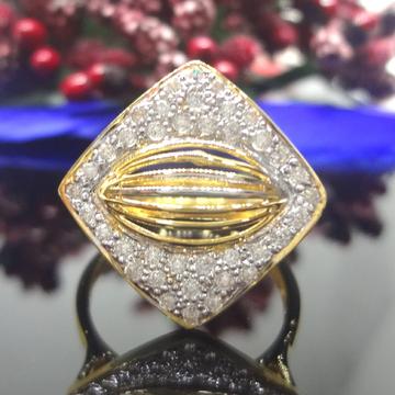 916 gold cz diamond cocktail ladies ring