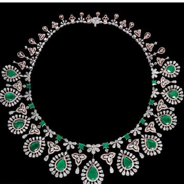 Diamonds and Emeralds NecklaceJSJ0032
