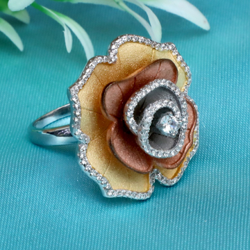 999 Silver Fancy Flower Design Ring PJ-R026