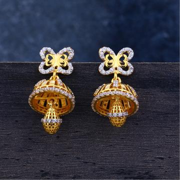 Ladies 916 Gold Jummar Casting Earrings-LJE106