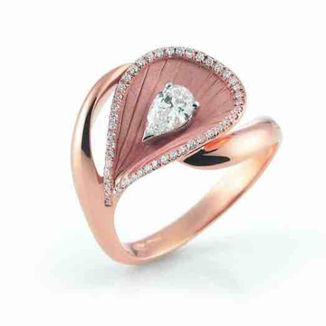 18KT Rose Gold Real Diamond Engagement Ladies Ring