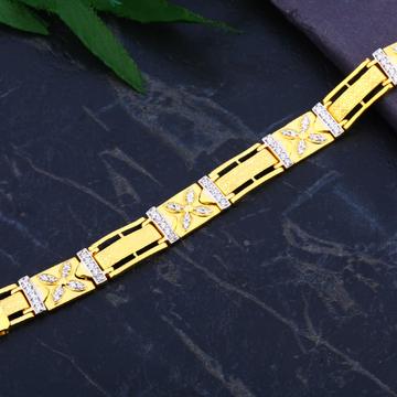 916 Gold Cz Casting Bracelet MCB80