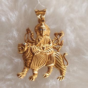 916 gold ambaji pendant by