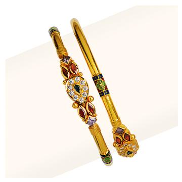 916 Gold Colorful Cross Pipe Copper Kadli RJCP-062