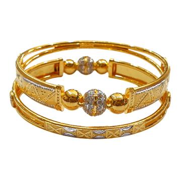 22K Gold Designer Kadli Bangles MGA - GK0071
