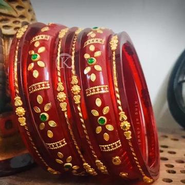 916 Gold Traditional Khajuri Chudi   RH-GC123