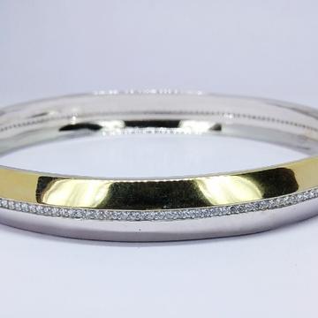 92.5 sterling silver cz men kada ml-21