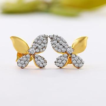 22 ct gold butterfly earrings