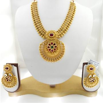 22kt Gold Antique Bridal Necklace Set RHJ-3376