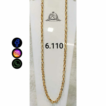 22 Carat Gold Gents Chain Rah-CH777