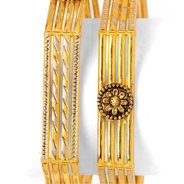 22Kt Gold Designer Copper Kadali Bangle BO-028 by