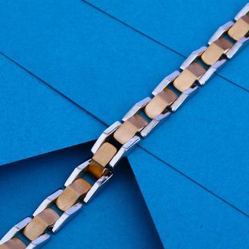 18ct Rose Gold Plain Bracelet RMB04