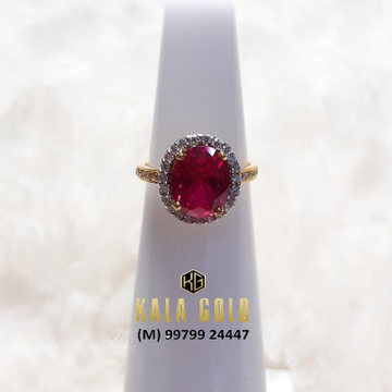 916 Red Stone Cz Ladies Ring