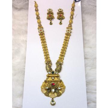 Special designer gold hm916 jadtar necklace set