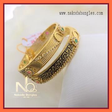 916 Gold Chakari Bangles NB-077