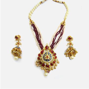 916 Gold Antique Long Necklace Set RHJ-5002