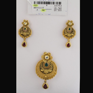 916 Antique Chain Pendant Set