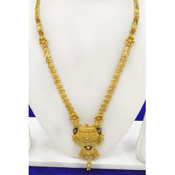 22KT Gold Indian Design Long Necklace RJ-N002