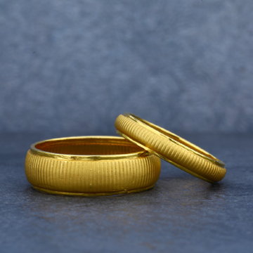 Plain Casting 22ct Gold Couple Ring-CR09