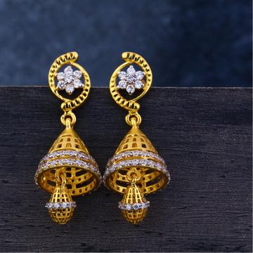 Ladies 22K Gold Jummar Traditional Earrings -LJE122