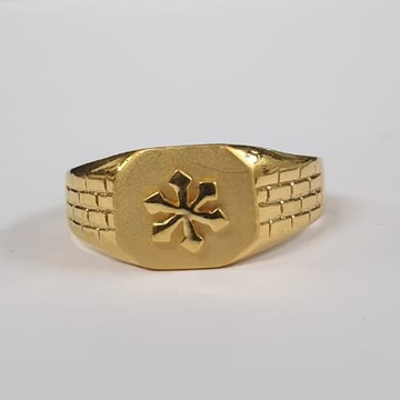 22Kt Yellow Gold Undaunted Ring For Men
