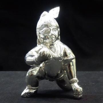 silver bal gopal murti by