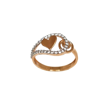 18K Rose Gold Heart Shaped Modern Ring MGA - LRG1137