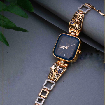18KT Gold ethics festival square dial watch Ladies by