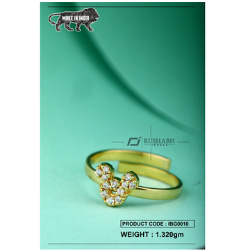 18 carat gold Kids ring mickey mouse ibg0010 by