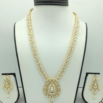 Freshwater White Pearls Long Haar Set JNC0139