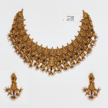 916 Gold Choker Necklace Set SJ-4545 by