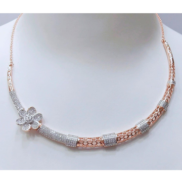 18Kt Rose Gold Plated Flower Design Necklace MJ-N0... by