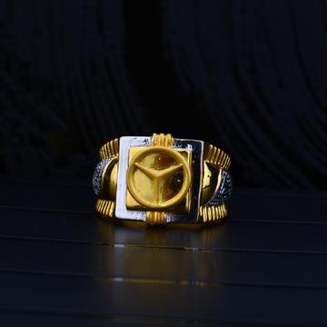 916 gold mercedes symbol ring mpr67