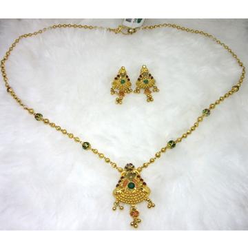 Gold HM916 Jadtar Necklace Set