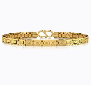 22kt, 916 Hall-Marked small rectangle pattern Yellow Gold Bracelet For Men JKB069