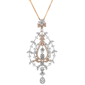 Satis Diamond Pendant in Rose Gold 7SHP12