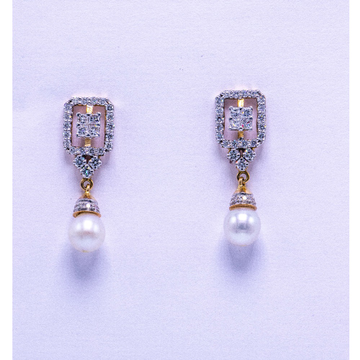 18K Gold Diamond Earrings AGJ-ER-02