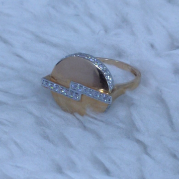 18KT/750 Rose Gold Eclectic Cz Ring For Women