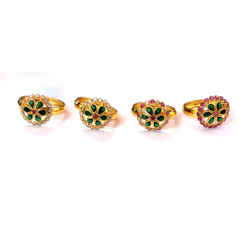 Fancy Color Stone Gold Rings NJA-R004